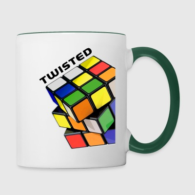 Rubik's Cube Twisted! - Tasse bicolore