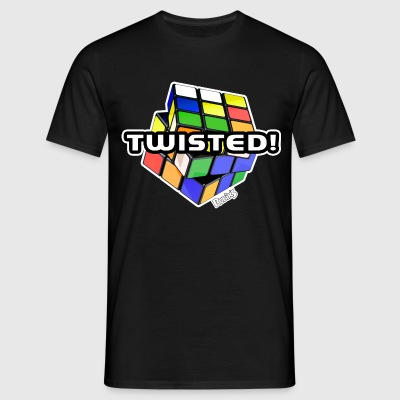 Rubik's Twisted! Cube Unsolved - Mannen T-shirt