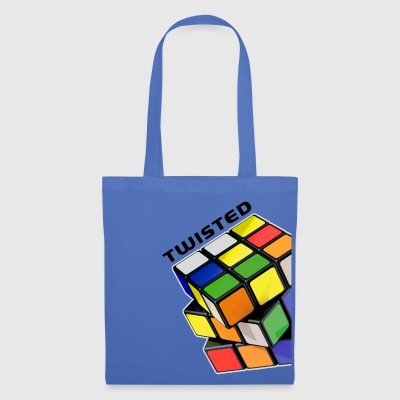 Rubik's Twisted Cube tilted - Tote Bag