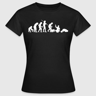 Evolution – Saufen / Party (weisser Druck) - Frauen T-Shirt