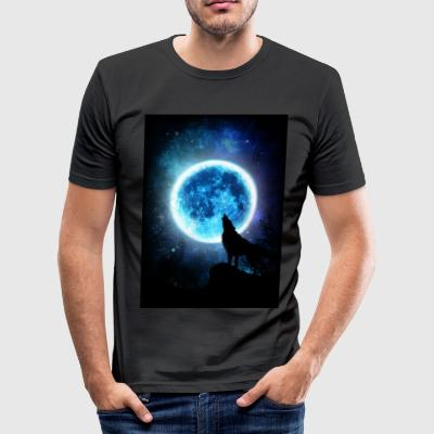 Wolfs Howling Instinct - Men's Slim Fit T-Shirt