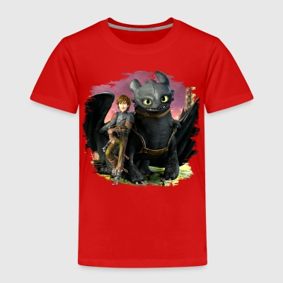 Dreamworks Dragons 'Hiccup and Toothless cool' - Kids' Premium T-Shirt