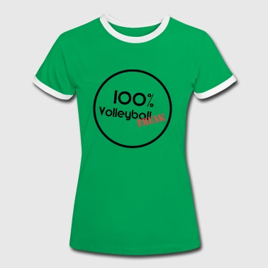 100% VolleyballFREAK Kreis - Frauen Kontrast-T-Shirt