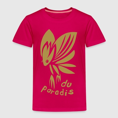 Paradiesschmetterling Gold (kids) - Kinder Premium T-Shirt