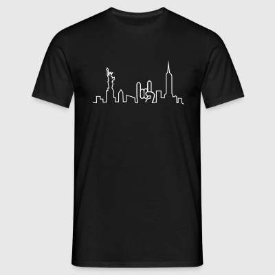 new york skyline T-Shirts - Men's T-Shirt