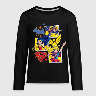 DC Super Hero Girls Batgirl Wonder Woman Supergirl - Teenager premium T-shirt med lange ærmer