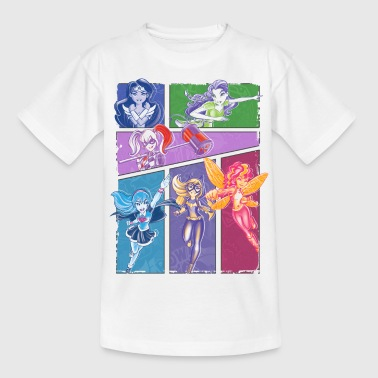 DC Super Hero Girls Collage Of Heroines - Børne-T-shirt