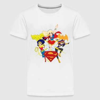 DC Super Hero Girls Batgirl Wonder Woman Supergirl - Teenager Premium T-Shirt