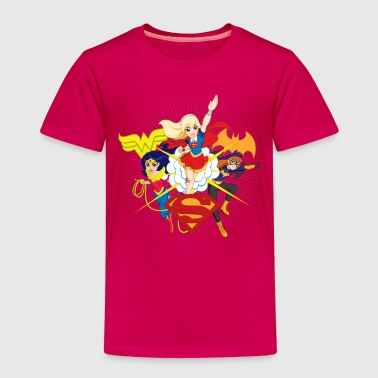 DC Super Hero Girls Batgirl Wonder Woman Supergirl - Kinder Premium T-Shirt