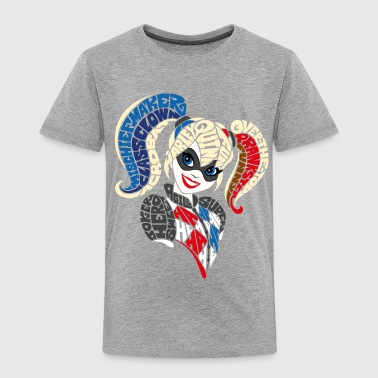 DC Super Hero Girls Harley Quinn Typography - Premium-T-shirt barn