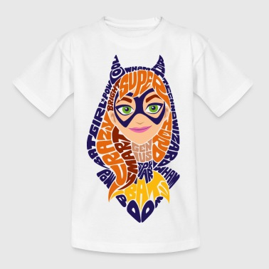 DC Super Hero Girls Batgirl Typografie - Kinder T-Shirt