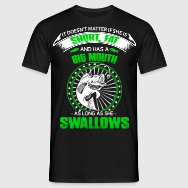 Fishing big mouth swallow funny - Men's T-Shirt