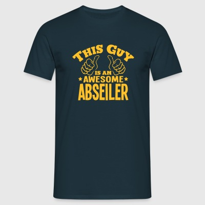 this guy is an awesome abseiler - Men's T-Shirt