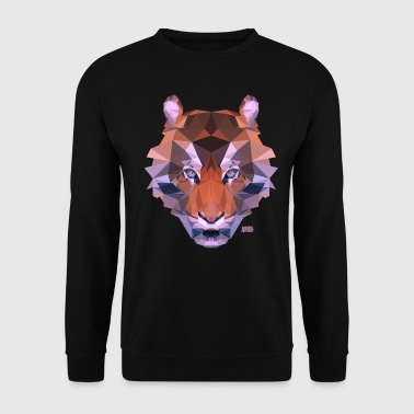 Animal Planet Big Cats Geometrical Tiger - Men's Sweatshirt