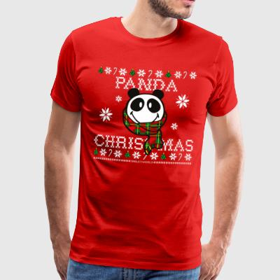 SmileyWorld Christmas Panda - Herre premium T-shirt