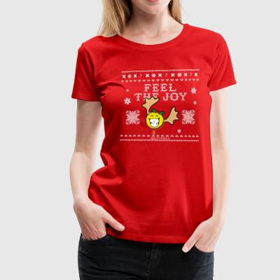 SmileyWorld Humour Feel The Joy Reindeer - Dame premium T-shirt