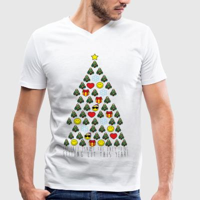 Smiley World Sapin De Noël Citation - T-shirt bio col en V Stanley & Stella Homme