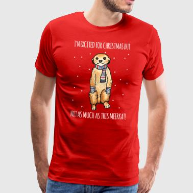 Christmas Meerkat - Men's Premium T-Shirt