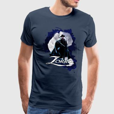 Zorro Hero By Night Standing On A Rooftop - Men's Premium T-Shirt