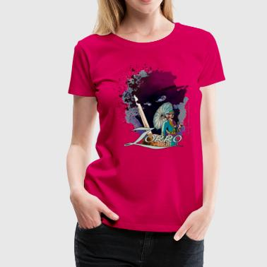 Zorro Don Diego Avenger And Nobleman Painting - Vrouwen Premium T-shirt