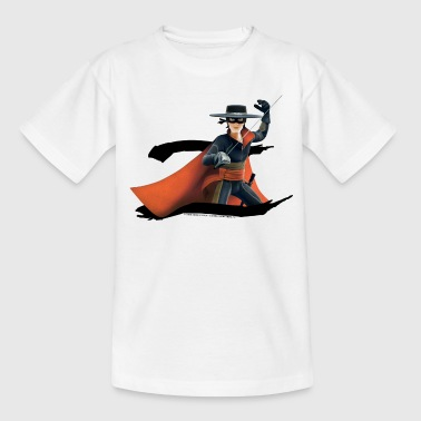 Zorro The Chronicles Masked Hero And Letter Z - Børne-T-shirt