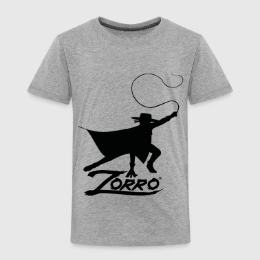 Zorro The Chronicles Silhouette With Whip - Kids' Premium T-Shirt