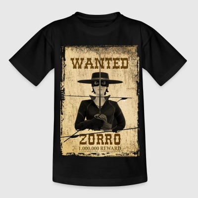 Zorro The Chronicles Wanted Poster - Kids' T-Shirt