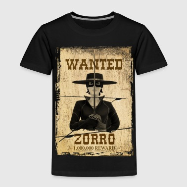 Zorro The Chronicles Wanted Poster - Børne premium T-shirt