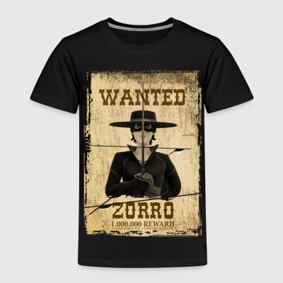 Zorro The Chronicles Wanted Poster - Kids' Premium T-Shirt