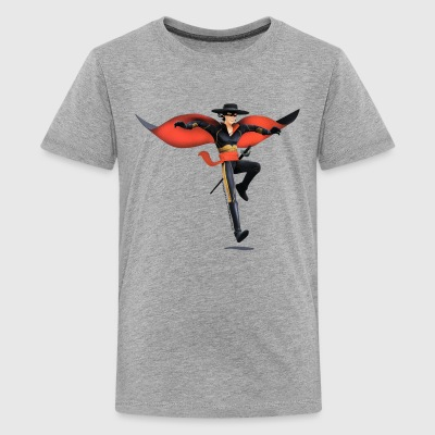 Zorro The Chronicles With Sword And Whip - Teenage Premium T-Shirt