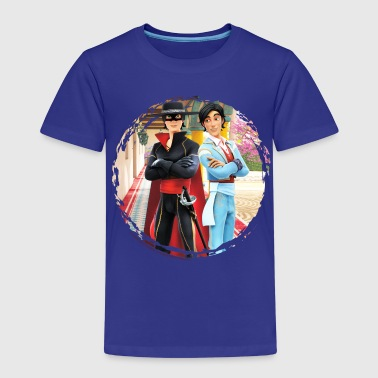 Zorro The Chronicles Don Diego Double Life - Børne premium T-shirt