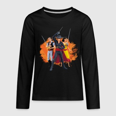 Zorro The Chronicles Ines Bernardo Don Diego - Teenagers' Premium Longsleeve Shirt
