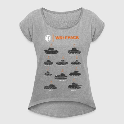 World of Tanks Wolfpack - Women's T-shirt with rolled up sleeves