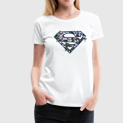 DC Comics Superman Classic Logo Flowers - Premium T-skjorte for kvinner