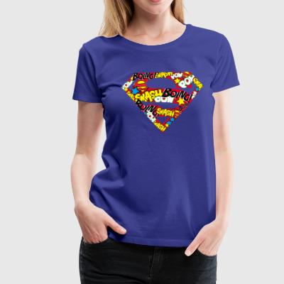 DC Comics Superman Classic Logo Soundwords - Premium T-skjorte for kvinner