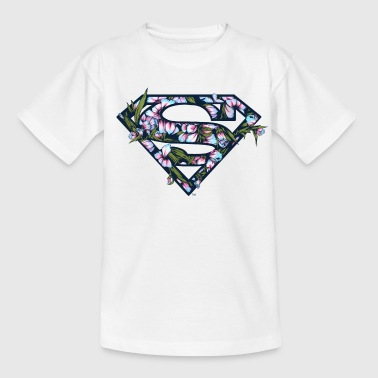 DC Comics Superman Logo Floral - T-shirt Ado