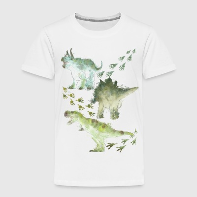 Animal Planet Various Dinosaurs Watercolour - Kids' Premium T-Shirt
