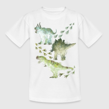 Animal Planet Dinosaurier Mit Fußspuren - Kinder T-Shirt