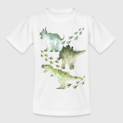 Animal Planet Various Dinosaurs Watercolour - Teenager-T-shirt