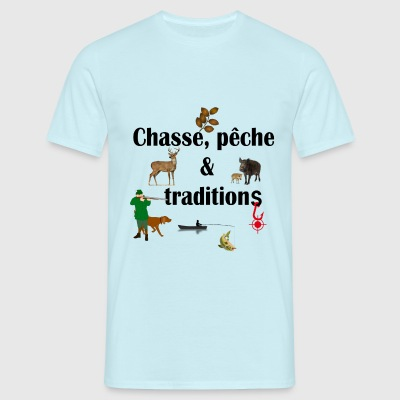 chasse, peche et tratidions - T-shirt Homme
