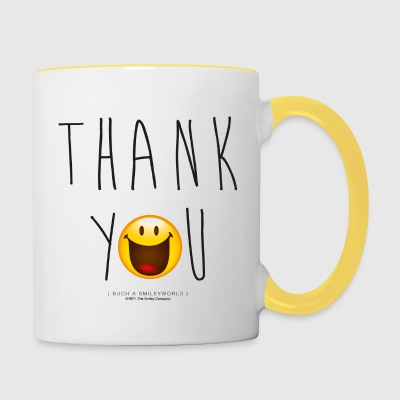 Smileyworld Merci Thank You - Tasse bicolore