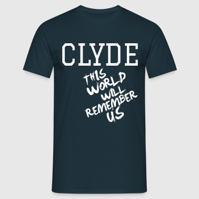 Valentine's Day Matching Couples Clyde Slogan - Men's T-Shirt
