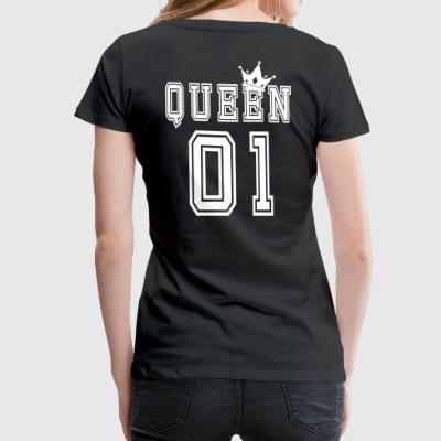 Valentine's Matching Couples Queen Crown Jersey - Camiseta premium mujer