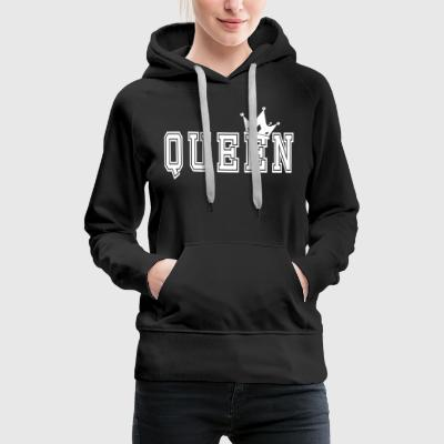 Valentine's Matching Couples Queen Jersey - Women's Premium Hoodie