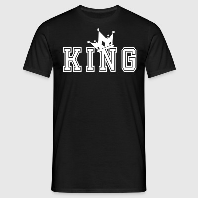 Valentine's Matching Couples King Crown Jersey - Men's T-Shirt