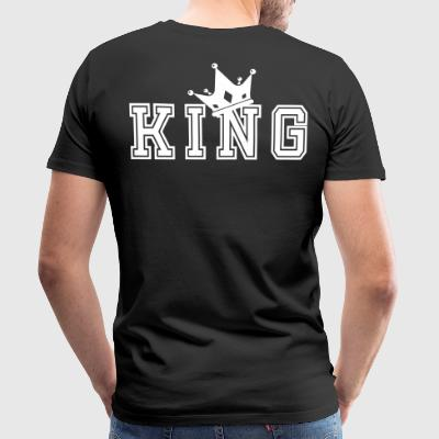 Valentine's Matching Couples King Crown Jersey - Men's Premium T-Shirt