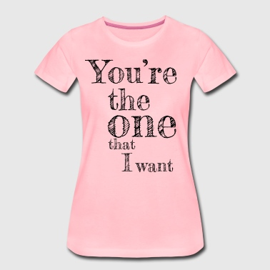 Valentine's Day Matching Couples Love Song - Dame premium T-shirt
