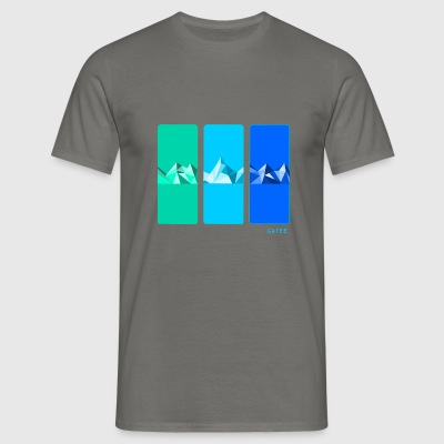 Mountain blue mens Tee Grey - Men's T-Shirt