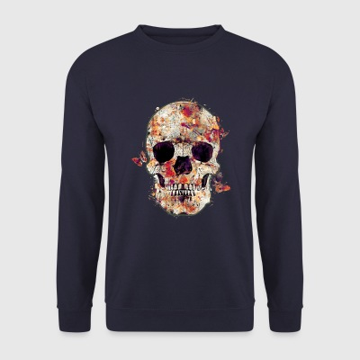 skull-and-butterfly Sweat-shirts - Sweat-shirt Homme