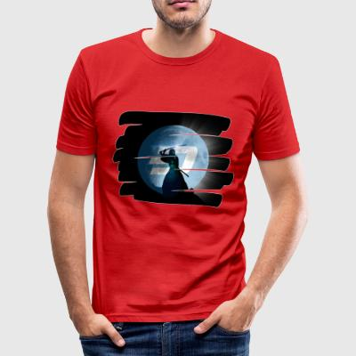 DASH Moon Shirt red - Männer Slim Fit T-Shirt